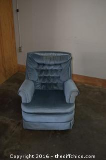 Blue Swivel / Rocking Chair