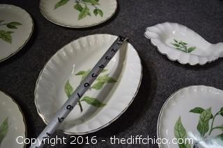 15 Pieces of W.S. George Bolero Pattern Replacement Dishes