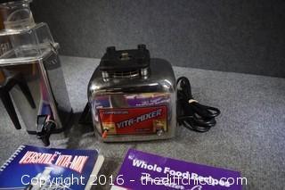 Working Vita Mix Machine w/Recipes & More