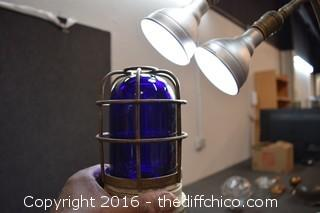 Vintage Cobalt Blue Light