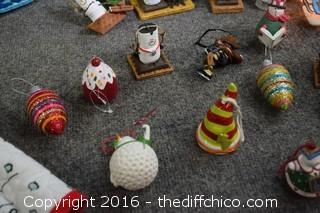 Mixed Christmas Lot-Santa, Tree Skirts, Lights, Ornaments & More