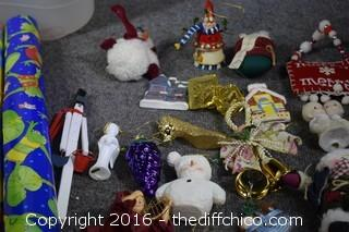 Christmas Mixed Lot-Paper, Ornaments & More