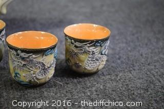 Hand Painted Elephant Tea Set