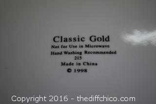 31 Pieces of Classic Gold Replacement China