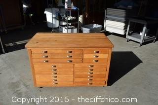 18 Drawer Map Desk