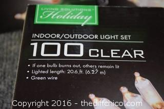 8 Boxes of Clear Christmas Lights