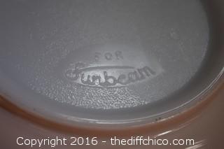 Sunbeam Mixer w/Pink Bowl