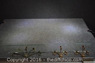 3 Decorative Glass Shelves
