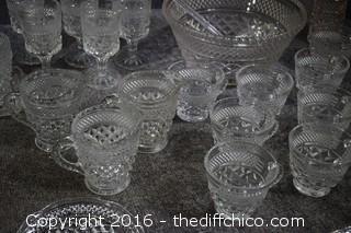 53 Pieces of Glassware