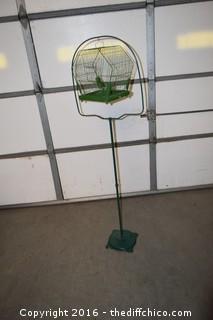 Vintage Bird Cage w/Stand