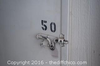 Storage unit # B50 - 5ft x 10ft