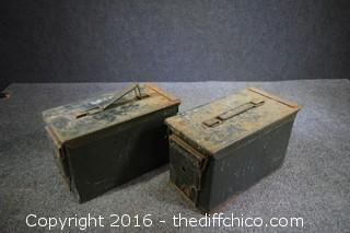 2 Ammo Boxes w/Screws