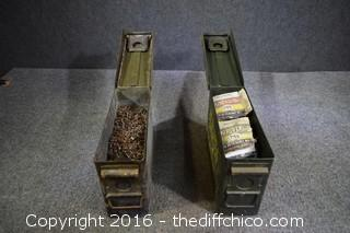2 Ammo Boxes & Contents