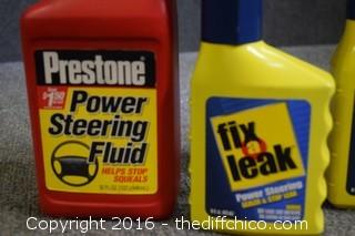 Power Steering Fluid & Fix A Leak