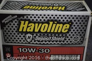 Case of Havoline 10W-30 Oil