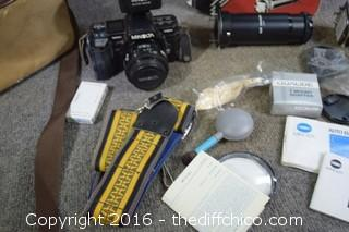 Minolta 7000 35 mm Camera, Optical Slide Duplicator & More