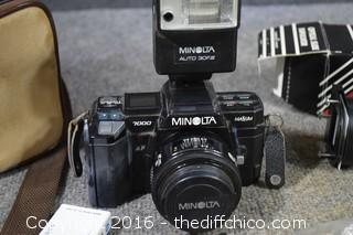 Minolta 7000 35 mm Camera, Optical Slide Duplicator & More