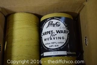 4 Rolls of Carpet Warp for Weaving