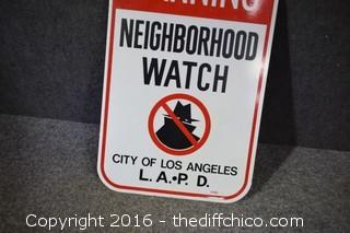 Metal Neighborhood Watch Sign