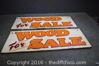 2 Wood for Sale Signs