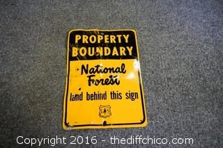 Metal Property Boundary Sign