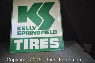 Metal Kelly Springfield Tires Sign