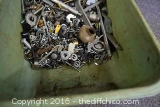Mixed Lot of Nuts, Bolts & More
