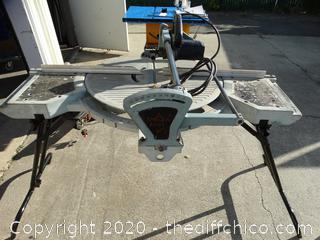 Delta Miter Saw Works Missing Parts   (With Manual)