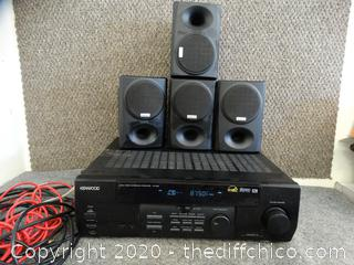 Kenwood Audio -Video Surround Receiver  and Speakers