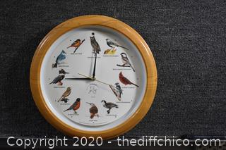 Working 13 1/2in dia Bird Clock-makes bird sounds
