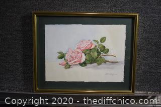 Framed Original Watercolor