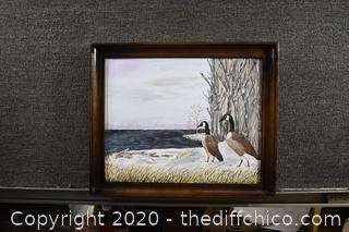 Framed Original Signed Oil