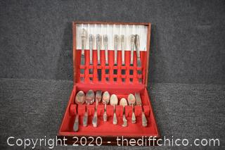 40 Pieces of Silver Plate Flatware