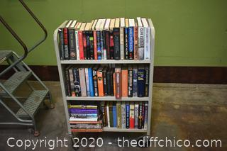 Lot of Books - cart not included - 1 side only