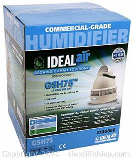 (AMAZON $487) Ideal-Air 700860 Commercial-Grade Humidifier GSH75, 75 Pints Per Day, Grey