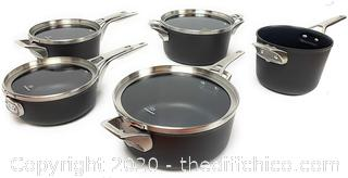 NEW Calphalon Premier 12-piece Hard Anodized Space Saving Cookware ($399)