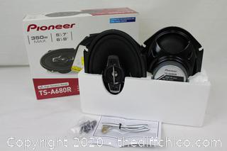 """NEW Pioneer TS-A680R 6"""" x 8"""" Coaxial 4-Way Speakers"""