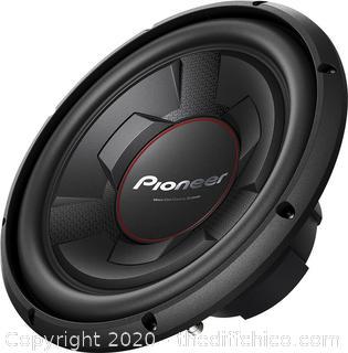 "Pioneer - 12"" Single-Voice-Coil 4-Ohm Subwoofer - Black"