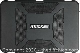 """KICKER 11HS8 Hideaway 8"""" SUBWOOFER with Enclosure and Integrated 150W AMPLIFIER"""