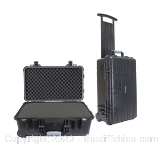 ELKTON OUTDOORS 22 Inch PISTOL HARD ROLLING GUN CASE (J8)