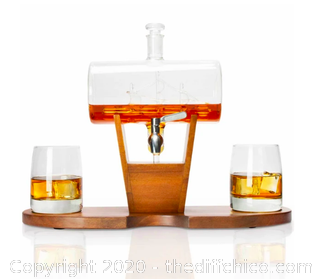 Atterstone Whiskey Cylinder Sail Boat Decanter Set (J24)