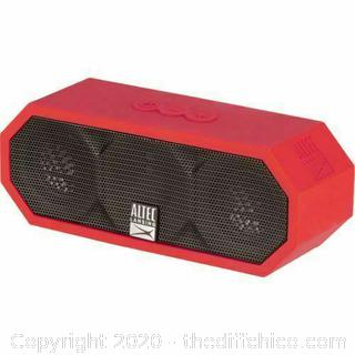 NEW Altec Lansing WATERPROOF The Jacket H2O Portable BLUETOOTH SPEAKER Red