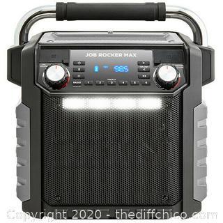ION Job Rocker Max (Black) Wireless All-Weather Rugged Bluetooth Speaker