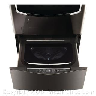 *NEW* see description ($746) SideKick Pedestal Washer with TWINWash System Compatibility in Black Stainless Steel 29 in. 1.0 cu. ft.