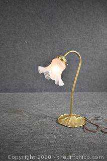 Working Lamp with Glass Shade