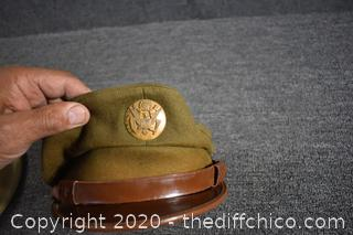 2 Vintage Military Hats