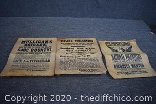 Vintage Bulletins