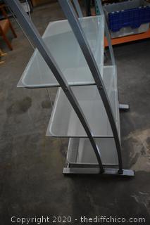 Display Shelf w/Glass Shelves