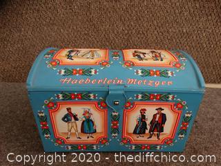 "Tin Box 12""x8""x 7 3/4"""