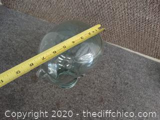 Glass Head Jar